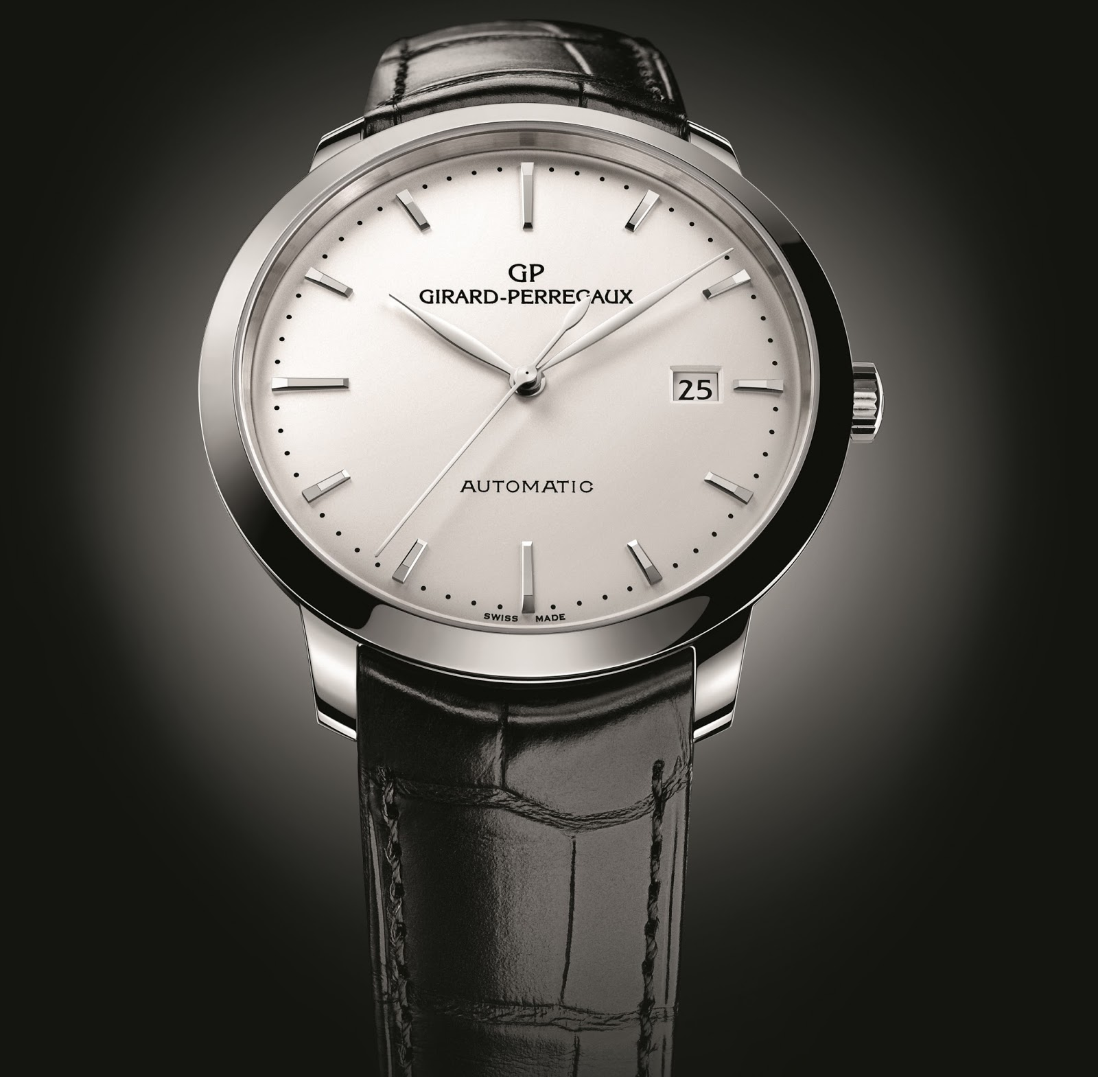girard perregaux 1966 stainless steel white dial replica watch