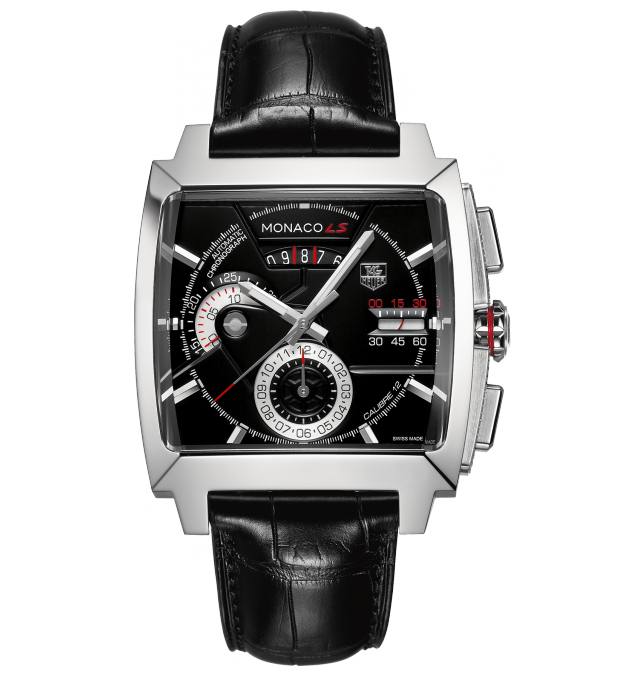 Black Dial TAG Heuer Monaco Calibre 12 LS Automatic Chronograph Replica Watch