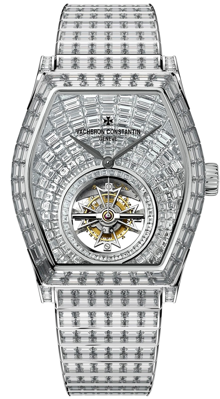 Sparkling Vacheron Constantin Malte Tourbillon Diamond Replica Watch