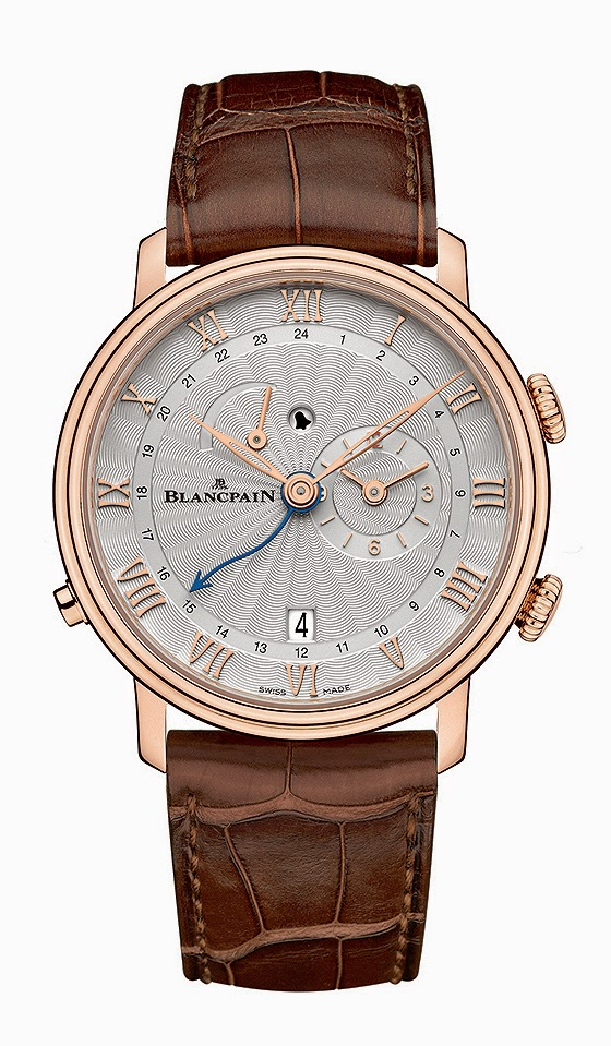 Rose Gold Blancpain Villeret Réveil GMT Replica Watch