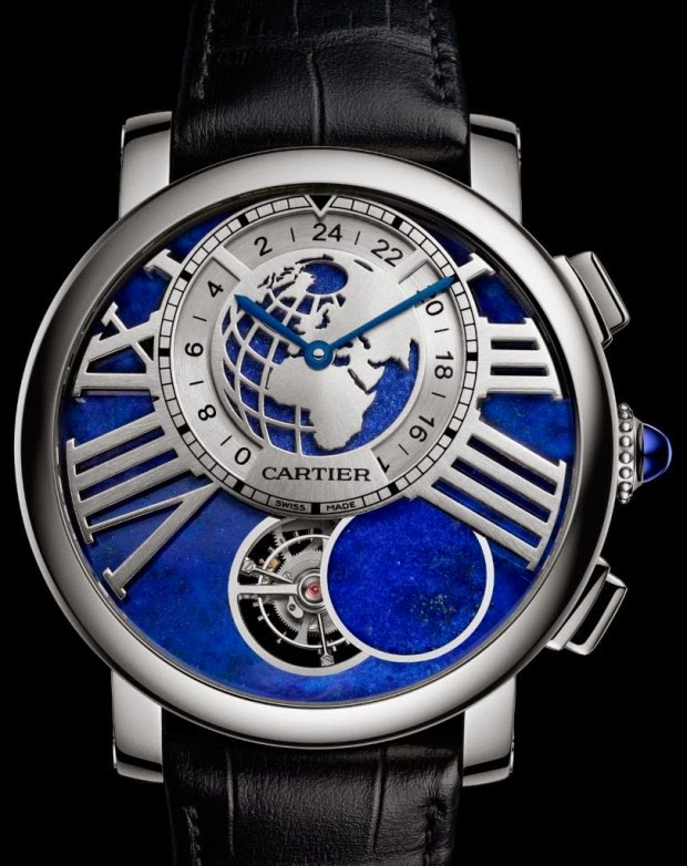 New cartier rotonde de cartier earth and moon replica watch
