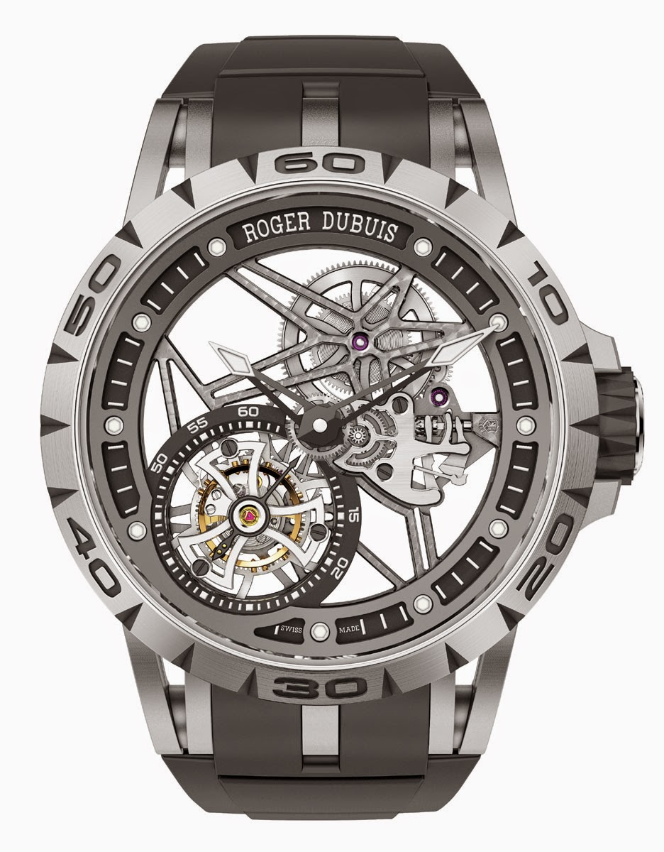 New roger dubuis excalibur spider double tourbillon volant squelette replica watch