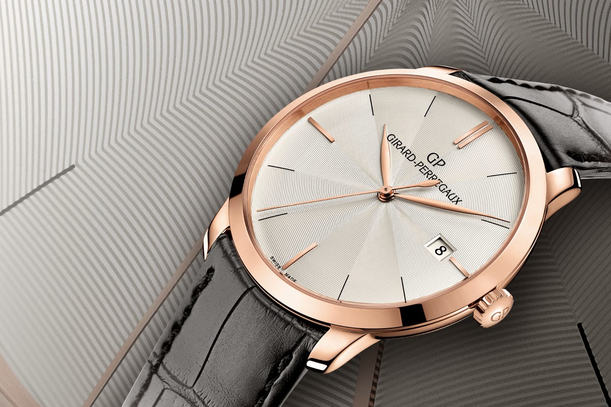 Guilloche Dial Girard Perregaux 1966 Rose Gold Replica Watch