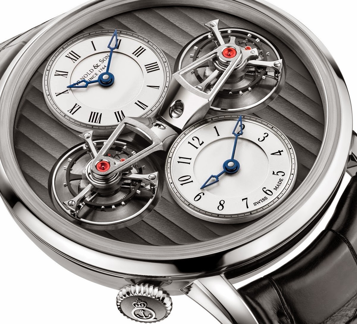 Best Arnold & Son DTE Double Tourbillon Escapement Dual Time Replica WatcBh
