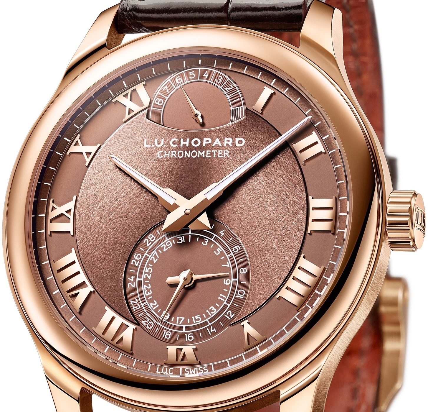 Rose Gold and Platinum Chopard L.U.C Quattro Replica Watch