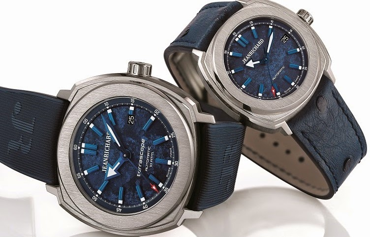 blue marine dial JEANRICHARD Terrascope replica watch
