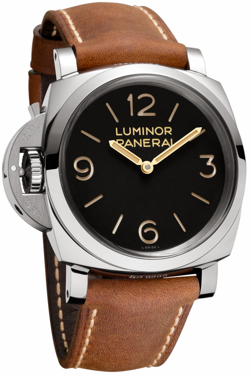 Best 47mm panerai luminor 1950 left-handed 3 days replica watch