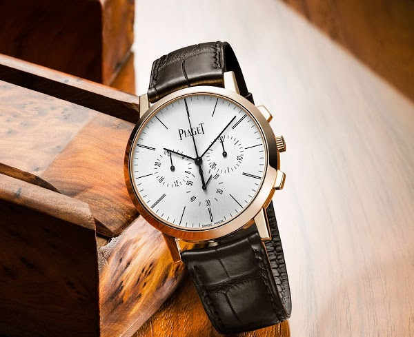Rose Gold sihh 2015 piaget altiplano chronograph replica watch