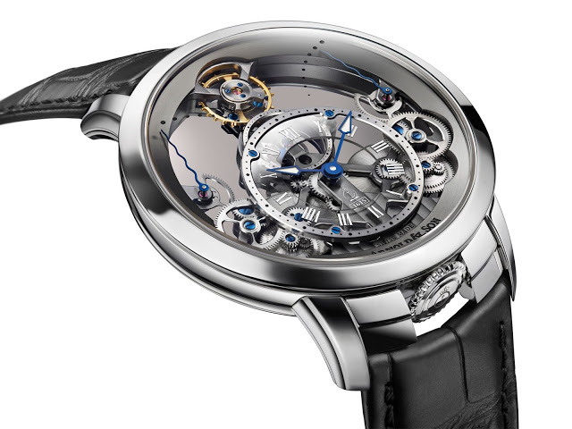 Steel Arnold &Son Time Pyramid Skeleton Replica Watch