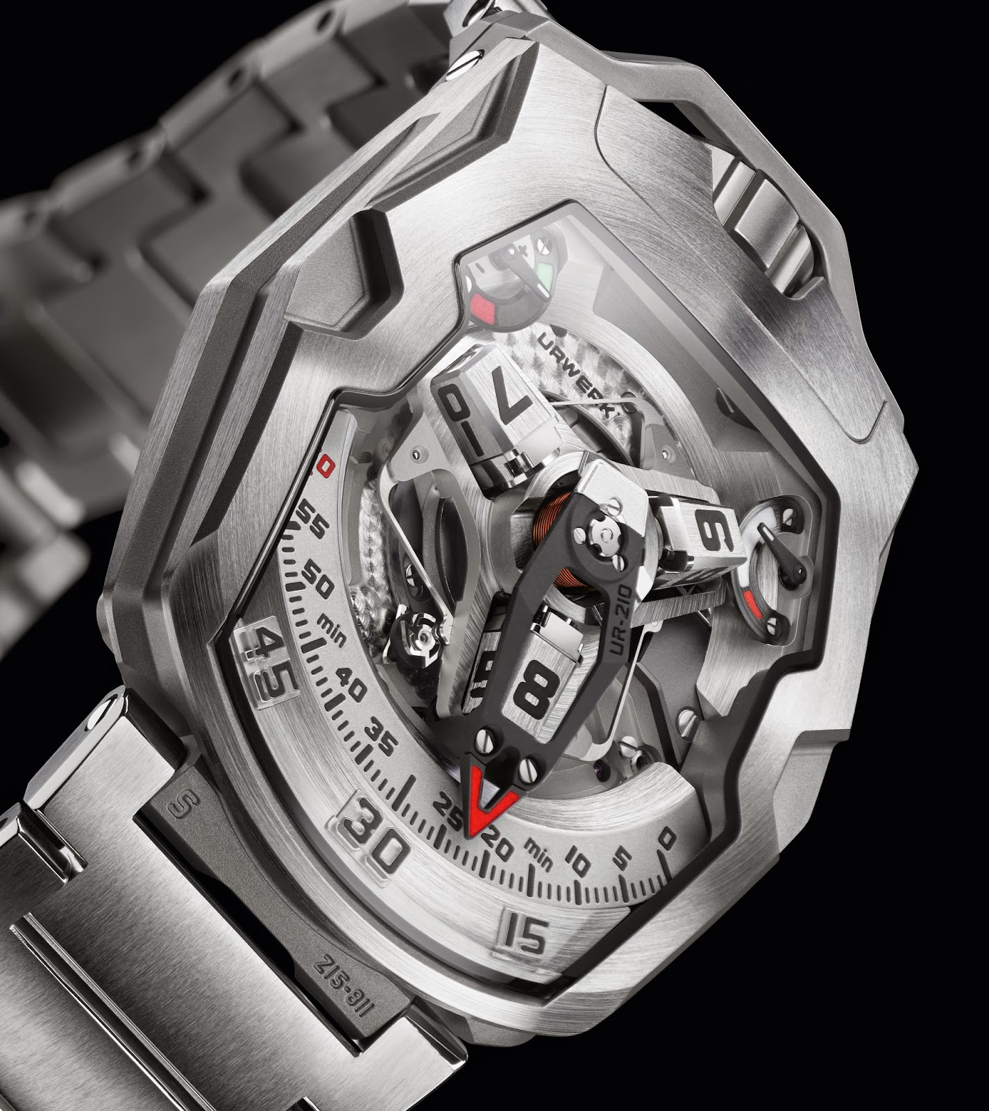 "Best Quality URWERK UR-210S ""Full Metal Jacket"" Replica Watch"