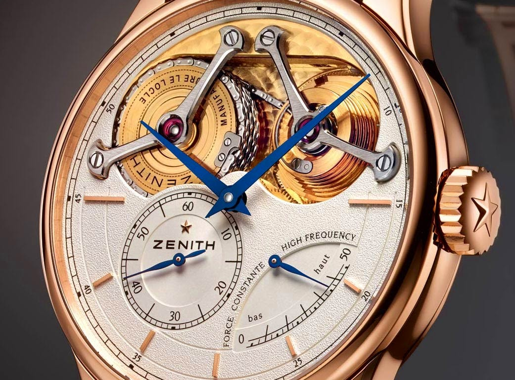 Rose Gold Zenith Academy Georges Favre-Jacot Replica Watch
