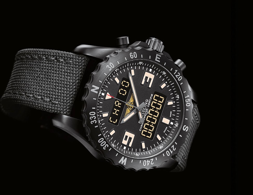 46mm Breitling Chronospace Military Watch Replica