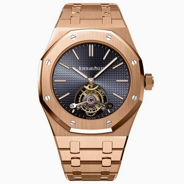 41mm 18K Pink Gold Audemars Piguet Royal Oak Extra-Thin Tourbillon Replica Watch