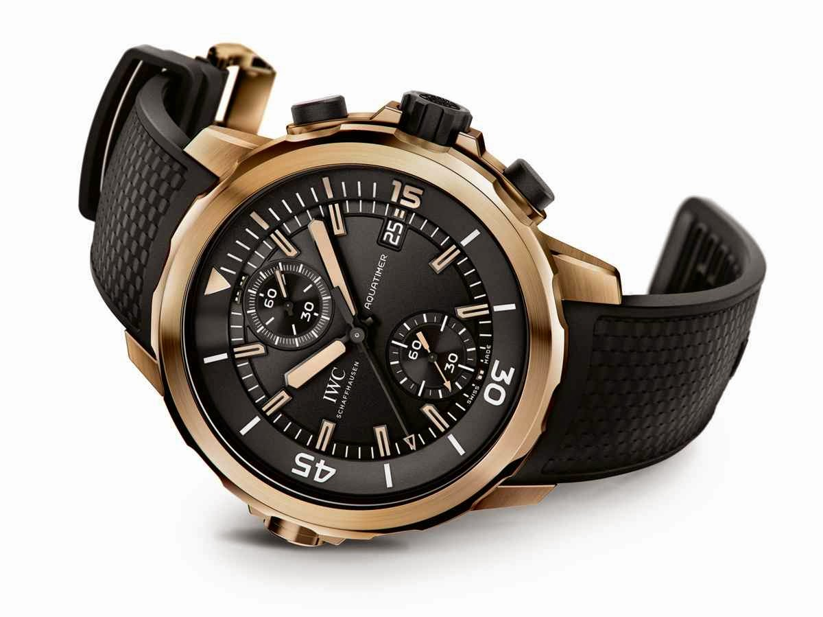 New style iwc schaffhausen aquatimer chronograph edition expedition charles darwin replica watch