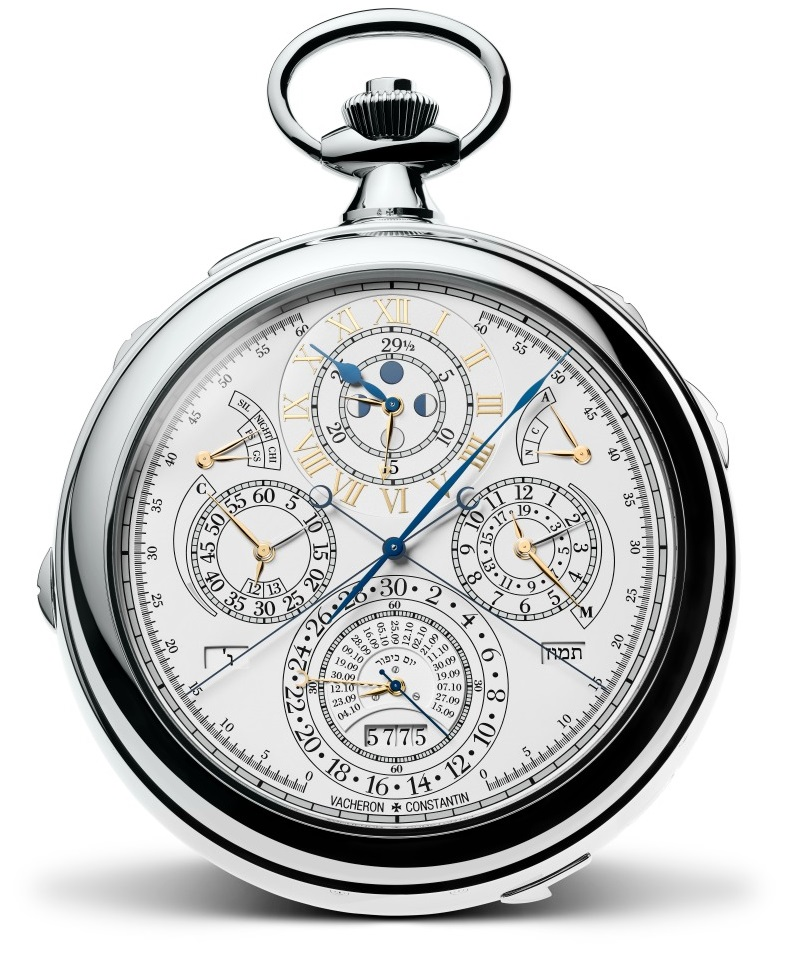 18K white gold Vacheron Constantin Pocket Watch Replica Reference 57260 is the most complicated watch ever made
