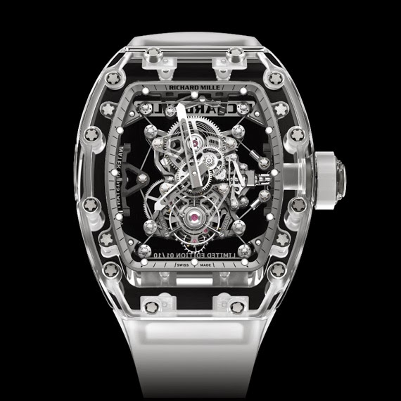 Sapphire Case Richard Mille RM 56-02 Tourbillon Replica Watch