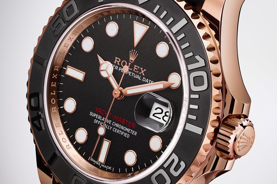 Rolex Yacht-Master Everose Gold Black Rubber Replica Watch