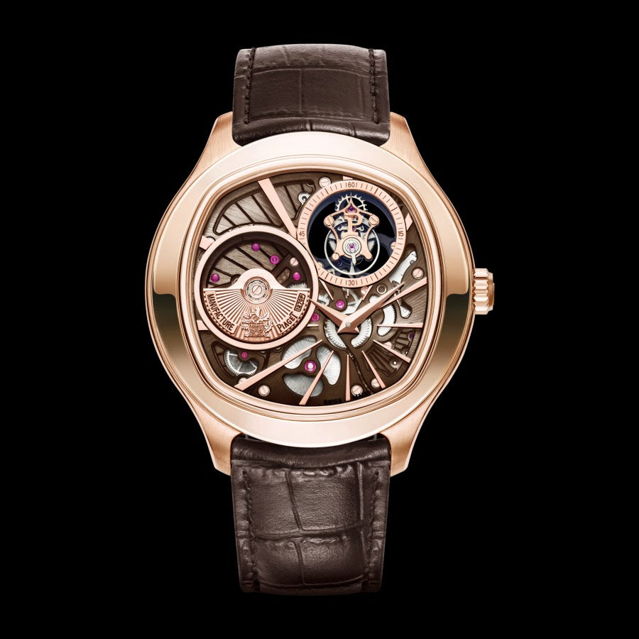 eb4cdd58959 Cushion-shaped Piaget Emperador Tourbillon Rose Gold Replica Watch ...