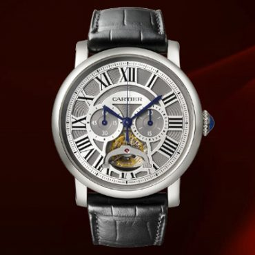 Best Cartier Rotonde de Cartier tourbillon Chronographe MAonopoussoir Replica Watch