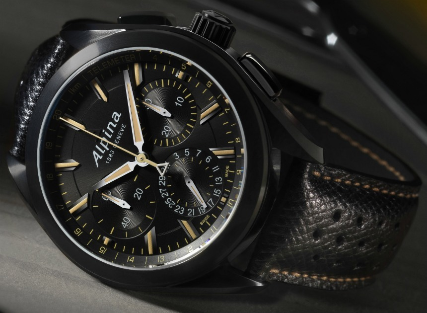 Alpina 'Full Black' Alpiner 4 Manufacture Flyback Chronograph Watch Watch Releases
