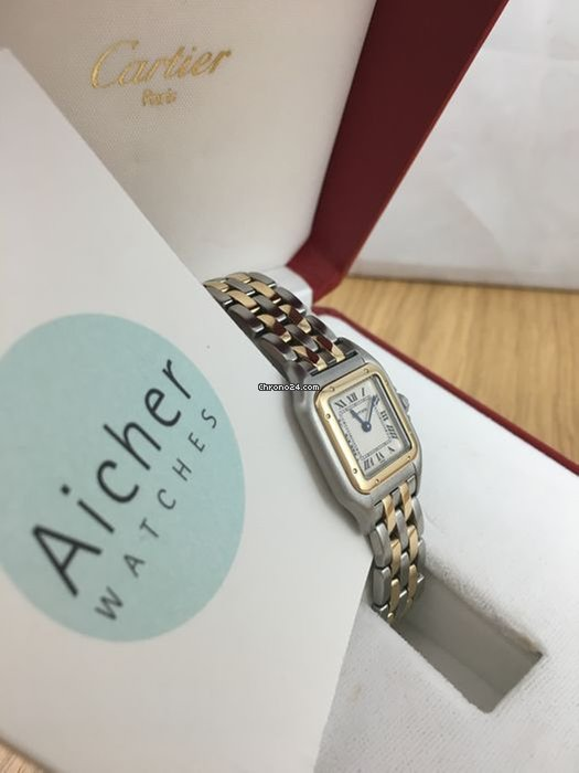 1ecce2b64ead Cartier Two Row Gold Full Set Gold   Steel Ladies Panthere Panthère ...