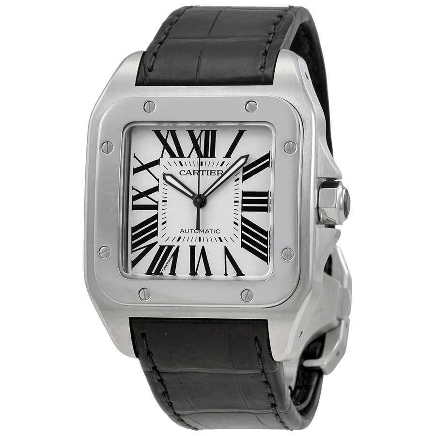 Cartier Santos 100 Steel Automatic Large Men's Watch W20073x8