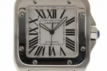 Pre-owned Cartier Santos Herren Replica Replica100 Automatic White Dial Men's Watch W200737G