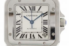 Pre-owned Cartier Santos de Cartier Automatic White Dial Men's Watch 2823