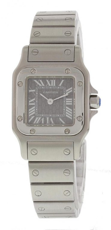 Pre-owned Cartier Santos 39.8mm Replicade Cartier Grey Dial Ladies Watch 1565